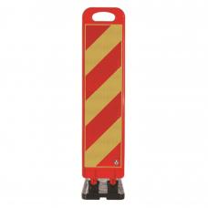 Baliză flexibilă 100cm pentru lucrări — rosu/galben