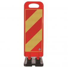 Baliză flexibilă 70cm pentru lucrări — rosu/galben