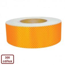 Bandă adezivă reflectorizantă tip fagure (galben) — 5cm x 10m