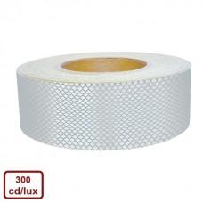 Bandă adezivă reflectorizantă tip fagure (alb) — 5cm x 10m