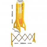 Barieră galbenă extensibilă