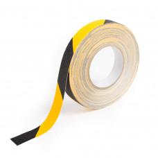 Bandă galben-negru autoadezivă antialunecare ━ 2.5cm x 25m