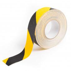 Bandă galben-negru autoadezivă antialunecare ━ 5cm x 25m