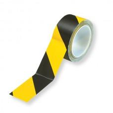 Bandă adezivă pentru marcare, 5cm x 30m, negru/galben