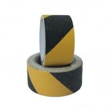 Bandă galben-negru antialunecare pentru scări