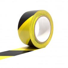 Bandă adezivă pentru marcare, 5cm x 25m, galben/negru