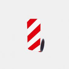 Bandă adezivă reflectorizantă (alb/roșu) — 10cm x 10m