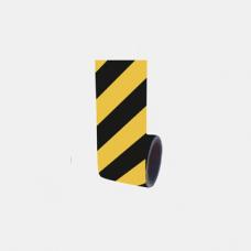 Bandă adezivă reflectorizantă (galben/negru) — 10cm x 10m