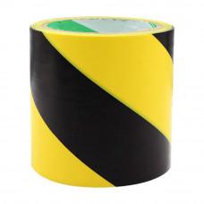 Bandă adezivă pentru marcare, 10cm x 25m, galben/negru