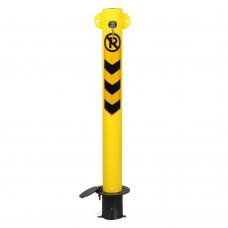 Blocator pentru parcare rotund închidere cu cheie și prindere în soclu în beton