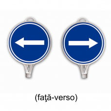 Obligatoriu stânga / dreapta faţă-verso — Semne din plastic
