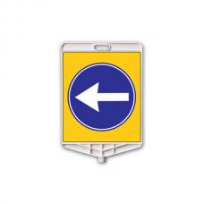 La dreapta sau la stânga — Indicator rutier din plastic