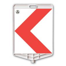 Panou curbă periculoasă — Indicator rutier din plastic