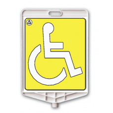 Parcare pentru persoane cu handicap — Indicator rutier din plastic