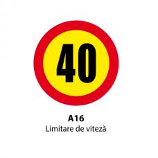 Limitare de viteză (10, 20, 30, 40, 50, 60km) — Indicator rutier
