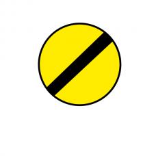 Sfârşitul tuturor restricţiilor — Indicator rutier