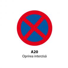 Oprirea interzisă (U20) — Indicator rutier