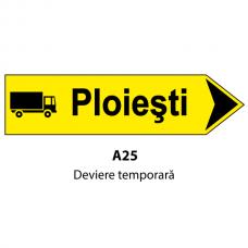 Deviere temporară — Indicator rutier