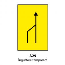 Îngustare temporară (U29) — Indicator rutier