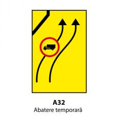 Abatere temporară — Indicator rutier