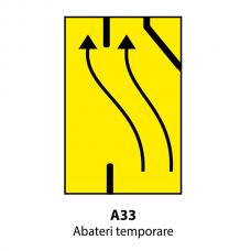 Abateri temporare — Indicator rutier