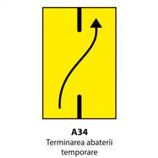 Terminarea abaterii temporare — Indicator rutier