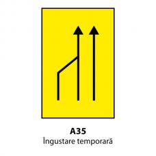 Îngustare temporară (U35) — Indicator rutier