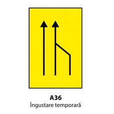 Îngustare temporară (U36) — Indicator rutier