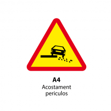Acostament periculos (U4) — Indicator rutier