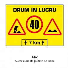 Succesiune de puncte de lucru — Indicator rutier