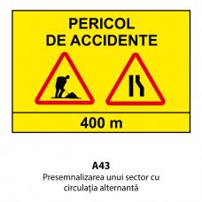 Presemnalizarea unui sector cu circulaţia alternantă — Indicator rutier