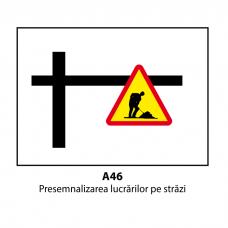 Presemnalizarea lucrărilor pe străzi — Indicator rutier