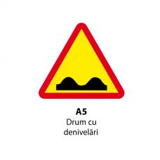 Drum cu denivelări — Indicator rutier
