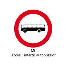 Accesul interzis autobuzelor — Indicator rutier