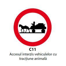 Accesul interzis vehiculelor cu tracțiune animală — Indicator rutier