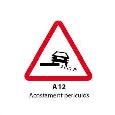 Acostament periculos (A12) — Indicator rutier