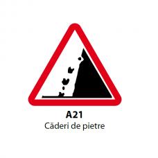Căderi de pietre — Indicator rutier
