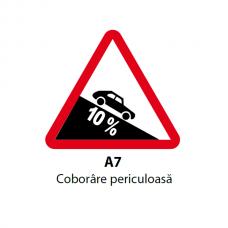Coborâre periculoasă — Indicator rutier