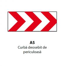 Curbă deosebit de periculoasă — Indicator rutier