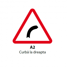 Curbă la dreapta — Indicator rutier