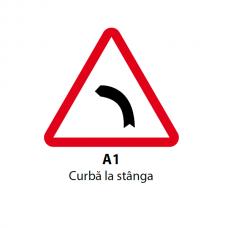 Curbă la stânga — Indicator rutier