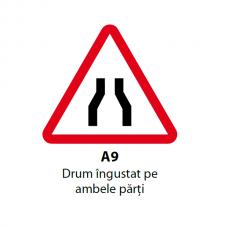 Drum îngustat pe ambele părţi — Indicator rutier