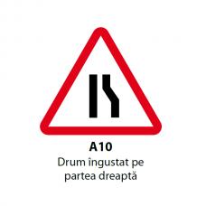 Drum îngustat pe partea dreaptă — Indicator rutier