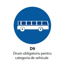 Drum obligatoriu pentru categoria de vehicule — Indicator rutier