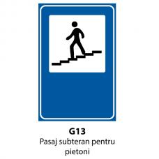 Pasaj subteran pentru pietoni — Indicator rutier