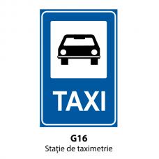 Staţie de taximetrie — Indicator rutier
