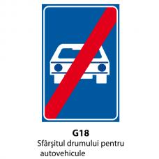 Sfârşitul drumului pentru autovehicule — Indicator rutier