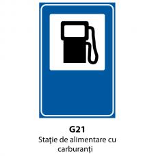 Staţie de alimentare cu carburanţi — Indicator rutier