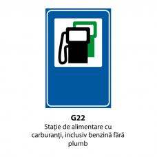 Staţie de alimentare cu carburanţi, inclusiv benzină fără plumb — Indicator rutier