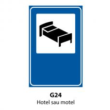 Hotel sau motel — Indicator rutier